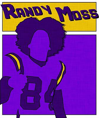 Randy Moss Print by Kyle West