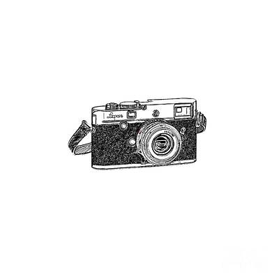 Silver Drawing - Rangefinder Camera by Setsiri Silapasuwanchai