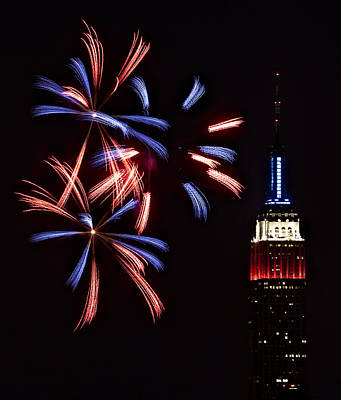 4th July Photograph - Red White And Blue by Susan Candelario