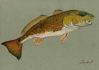 Redfish Painting Original by Juan  Bosco