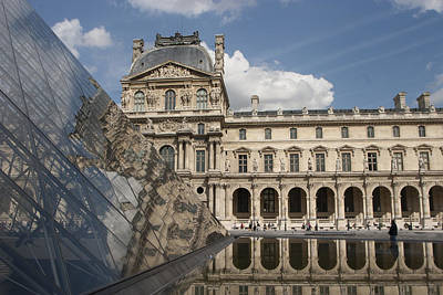 Louve Photograph - Reflection Of The Louvre by Carl Purcell