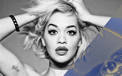 Celebrities Mixed Media - Rita Ora Collection by Marvin Blaine