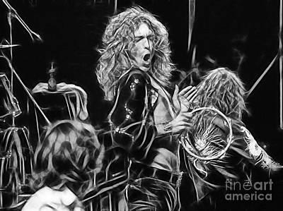 Robert Plant Mixed Media - Robert Plant Led Zeppelin by Marvin Blaine