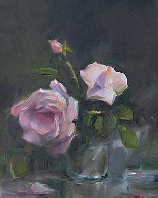Girlfriend Painting - Roses by Tigran Ghulyan