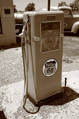 Route 66 Gas Pump Print by Frank Romeo