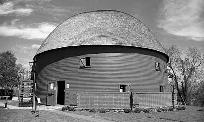 Mural Photograph - Route 66 - Round Barn by Frank Romeo