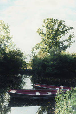 Rowing Boats Print by Joana Kruse