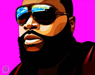 Hiphop Digital Art - Rozay by The DigArtisT