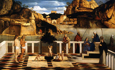 Parable Painting - Sacred Allegory by Giovanni Bellini