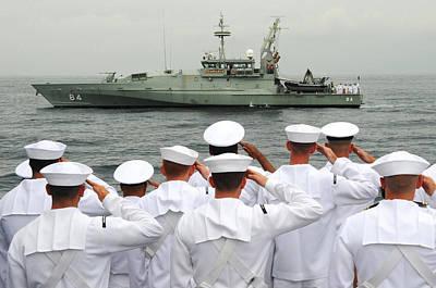 Soldier Photograph - Sailors Salute by Celestial Images
