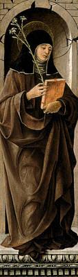 Church Painting - Saint Clare by Francesco del Cossa