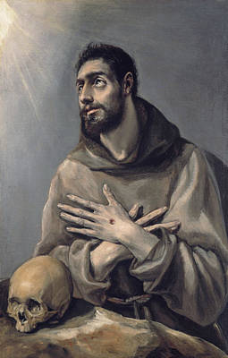 Mannerism Painting - Saint Francis In Ecstasy by El Greco