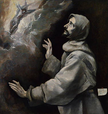 Saint Francis Receiving The Stigmata Print by El Greco