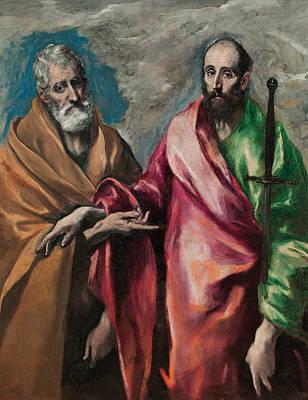 Saint Peter And Saint Paul Print by El Greco