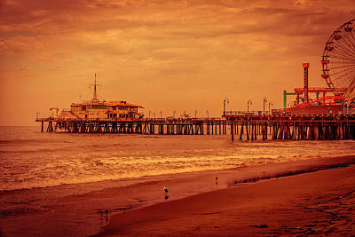 Rollercoaster Photograph - Santa Monica Pier Collection- 3/36 by Gene Parks