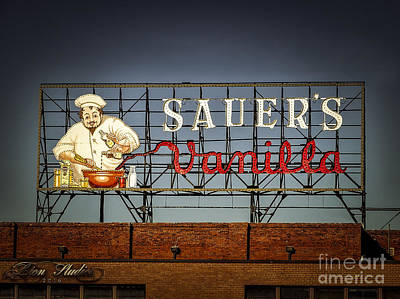 Digital Photograph - C.f.sauers Signage by Melissa Messick