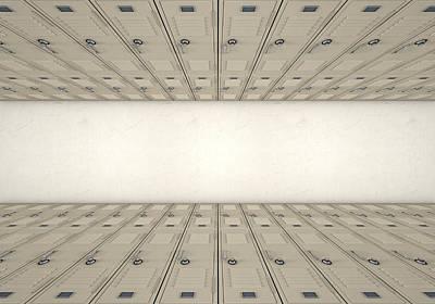 School Locker Corridor Print by Allan Swart