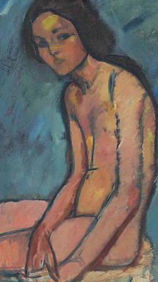 Seated Nude Print by Amedeo Modigliani