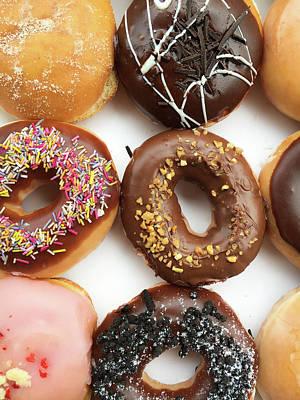 Buffet Photograph - Selection Of Doughnut by Tom Gowanlock