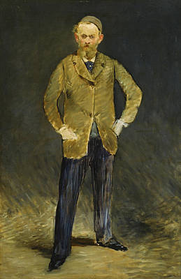 Men Painting - Self-portrait by Edouard Manet