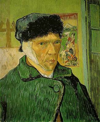Bandages Painting - Self Portrait With Bandaged Ear by Vincent Van Gogh