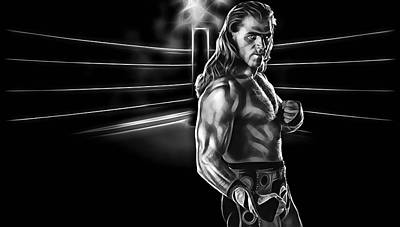 Wwe Mixed Media - Shawn Michaels Wrestling Collection by Marvin Blaine