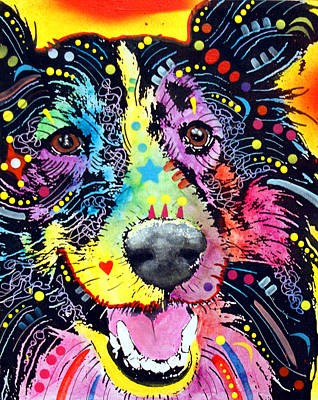 Sheepdog Mixed Media - Sheltie by Dean Russo