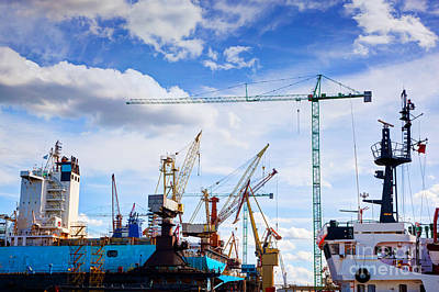 Commerce Photograph - Ship Under Construction by Michal Bednarek