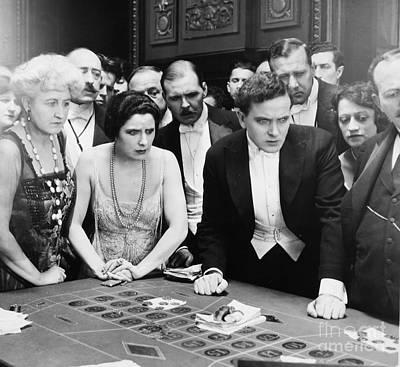 Silent Film Still: Gambling Print by Granger