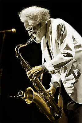 Sonny Rollins Collection Print by Marvin Blaine
