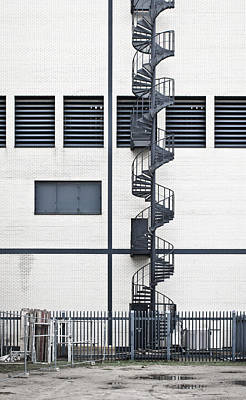 Spiral Photograph - Spiral Stairs by Tom Gowanlock