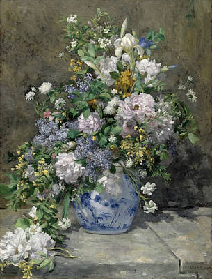 Vase Painting - Spring Bouquet by Pierre-Auguste Renoir