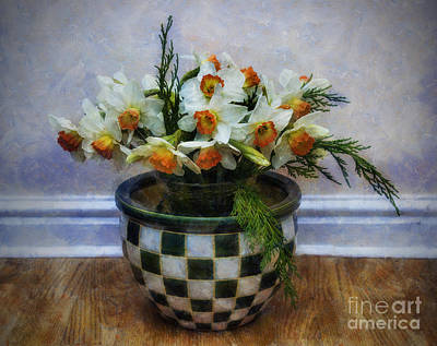 Blooming Digital Art - Spring Daffodils by Ian Mitchell