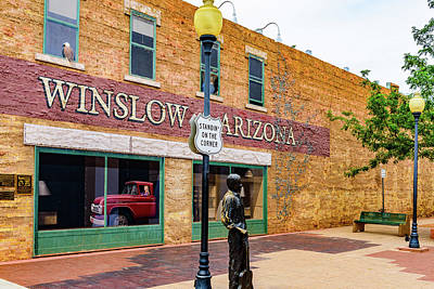 Standing On The Corner - Winslow Arizona Print by Jon Berghoff