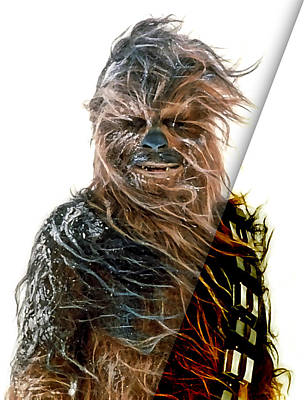 Star Wars Chewbacca Collection Print by Marvin Blaine