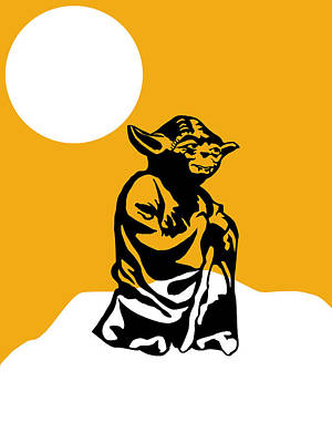 Star Wars Yoda Collection Print by Marvin Blaine
