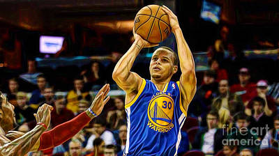 Basketball Mixed Media - Steph Curry Collection by Marvin Blaine