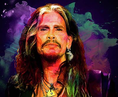Steven Tyler Digital Art - Steven Tyler by Elena Kosvincheva