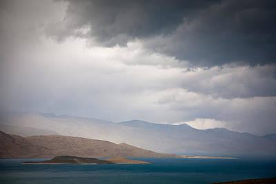 Storm On Karakul Lake Print by Konstantin Dikovsky