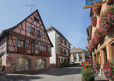 Vineyards Of Alsace Photograph - Streets Of Eguisheim by Yefim Bam