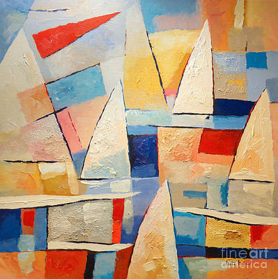 Abstract Seascape Painting - Summertime by Lutz Baar