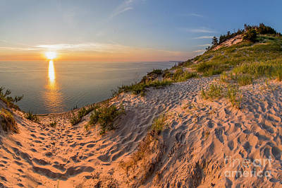 Northern Michigan Photograph - Sunset At Old Baldy by Twenty Two North Photography