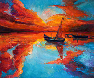 Creativity Drawing - Sunset by Boyan Dimitrov