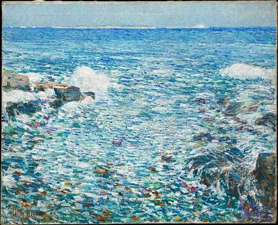 Surf, Isles Of Shoals Print by Childe Hassam