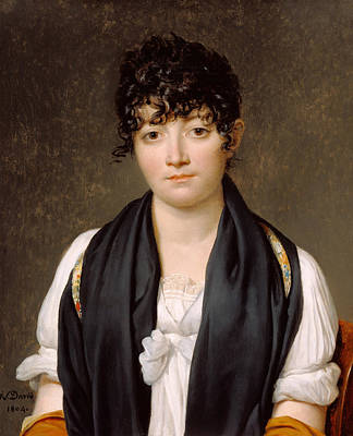 Suzanne Le Peletier De Saint-fargeau Print by Jacques-Louis David