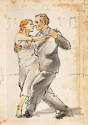 Passion Drawing - Tango  by H James Hoff