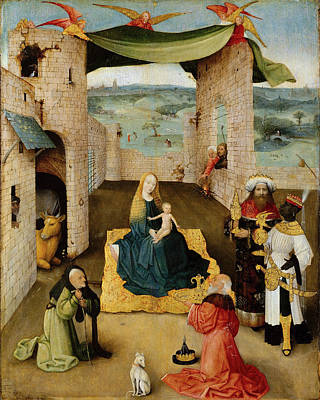 Nativity Painting - The Adoration Of The Magi by Hieronymus Bosch