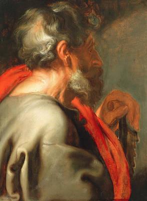 Saint Painting - The Apostle Simon by Anthony van Dyck