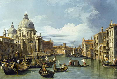 Italian Landscape Painting - The Entrance To The Grand Canal, Venice by Canaletto