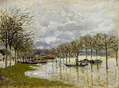 Painting - The Flood On The Road To Saint-germain by Alfred Sisley